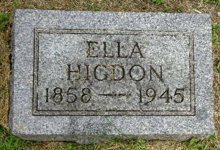HIGDON, ELLA - Black Hawk County, Iowa   ELLA HIGDON