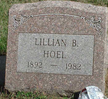 MOULTON HOEL, LILLIAN BELLE - Black Hawk County, Iowa   LILLIAN BELLE MOULTON HOEL