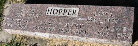 HOPPER, CATHERINE - Black Hawk County, Iowa | CATHERINE HOPPER