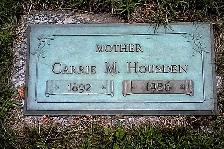 HOUSDEN, CARRIE M. - Black Hawk County, Iowa | CARRIE M. HOUSDEN