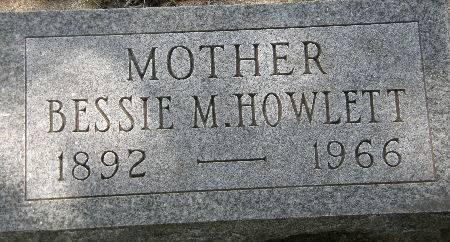 HOWLETT, BESSIE M. - Black Hawk County, Iowa | BESSIE M. HOWLETT