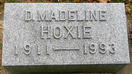 HOXIE, D. MADELINE - Black Hawk County, Iowa | D. MADELINE HOXIE