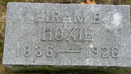 HOXIE, HIRAM B. - Black Hawk County, Iowa   HIRAM B. HOXIE