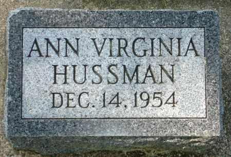 HUSSMAN, ANN VIRGINIA - Black Hawk County, Iowa | ANN VIRGINIA HUSSMAN