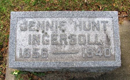 HUNT INGERSOLL, JENNIE - Black Hawk County, Iowa | JENNIE HUNT INGERSOLL