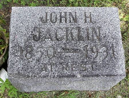 JACKLIN, JOHN H. - Black Hawk County, Iowa | JOHN H. JACKLIN