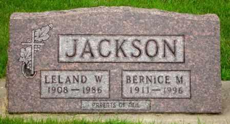 JACKSON, BERNICE M. - Black Hawk County, Iowa   BERNICE M. JACKSON