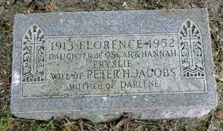 JACOBS, FLORENCE - Black Hawk County, Iowa | FLORENCE JACOBS