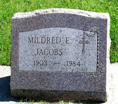 JACOBS, MILDRED E. - Black Hawk County, Iowa   MILDRED E. JACOBS
