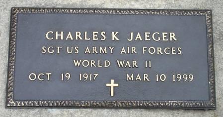 JAEGER - U.S. ARMY, CHARLES K. - Black Hawk County, Iowa | CHARLES K. JAEGER - U.S. ARMY