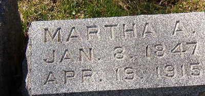 JARVIS, MARTHA A. - Black Hawk County, Iowa   MARTHA A. JARVIS
