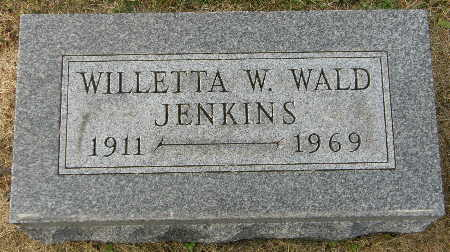 WALD JENKINS, WILLETTA W. - Black Hawk County, Iowa | WILLETTA W. WALD JENKINS