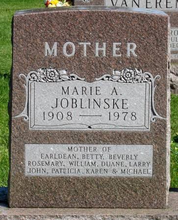 JOBLINSKE, MARIE A. - Black Hawk County, Iowa | MARIE A. JOBLINSKE