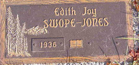 SWOPE JONES, EDITH JOY - Black Hawk County, Iowa | EDITH JOY SWOPE JONES