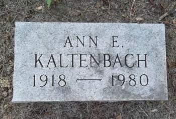 KALTENBACH, ANN E. - Black Hawk County, Iowa   ANN E. KALTENBACH