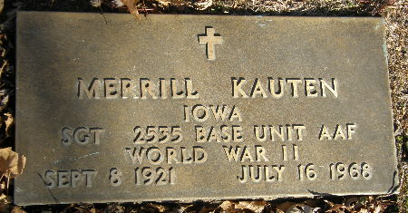 KAUTEN, MERRILL - Black Hawk County, Iowa | MERRILL KAUTEN