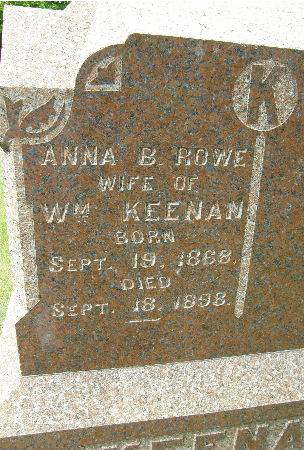 ROWE KEENAN, ANNA B. - Black Hawk County, Iowa | ANNA B. ROWE KEENAN