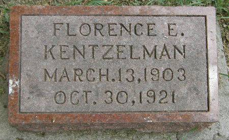 KENTZELMAN, FLORENCE E. - Black Hawk County, Iowa | FLORENCE E. KENTZELMAN