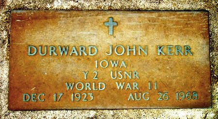 KERR, DURWARD JOHN - Black Hawk County, Iowa | DURWARD JOHN KERR