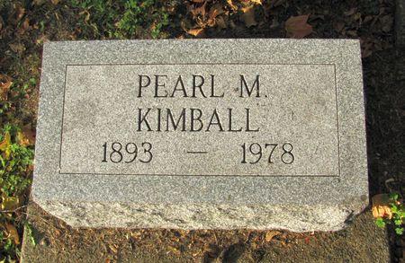 KIMBALL, PEARL M. - Black Hawk County, Iowa   PEARL M. KIMBALL