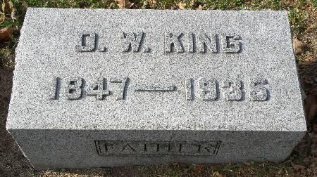 KING, D. W. - Black Hawk County, Iowa   D. W. KING