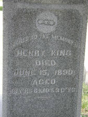 KING, HENRY - Black Hawk County, Iowa | HENRY KING