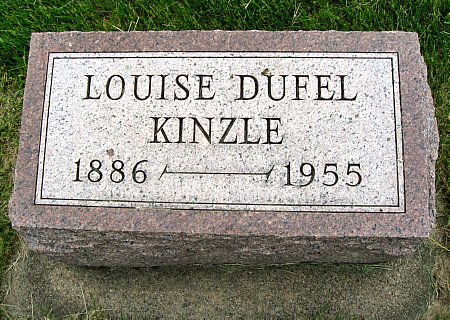 DUFEL KINZLE, LOUISE - Black Hawk County, Iowa | LOUISE DUFEL KINZLE
