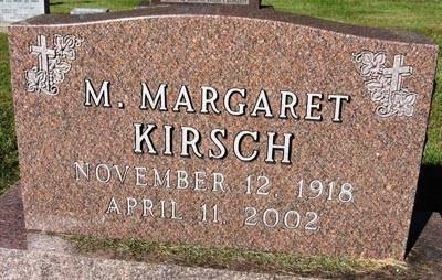 KIRSCH, M. MARGARET - Black Hawk County, Iowa | M. MARGARET KIRSCH