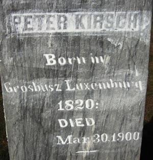 KIRSCH, PETER - Black Hawk County, Iowa | PETER KIRSCH