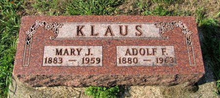 KLAUS, ADOLF F. - Black Hawk County, Iowa | ADOLF F. KLAUS