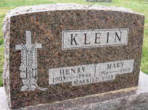 KLEIN, HENRY - Black Hawk County, Iowa | HENRY KLEIN