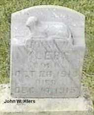 KLERS, JOHN W. - Black Hawk County, Iowa   JOHN W. KLERS