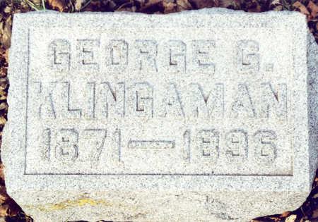 KLINGAMAN, GEORGE G. - Black Hawk County, Iowa   GEORGE G. KLINGAMAN