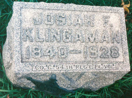 KLINGAMAN, JOSIAH F. - Black Hawk County, Iowa | JOSIAH F. KLINGAMAN