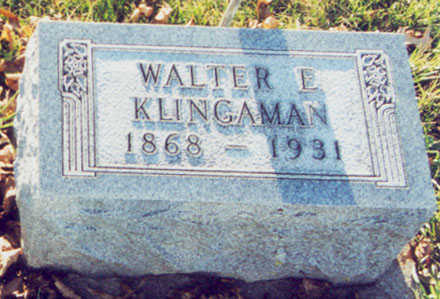 KLINGAMAN, WALTER E. - Black Hawk County, Iowa | WALTER E. KLINGAMAN