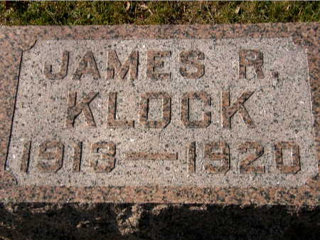 KLOCK, JAMES R. - Black Hawk County, Iowa | JAMES R. KLOCK