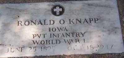 KNAPP, RONALD O. - Black Hawk County, Iowa | RONALD O. KNAPP