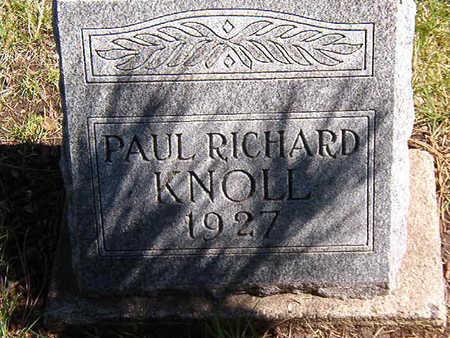 KNOLL, PAUL RICHARD - Black Hawk County, Iowa   PAUL RICHARD KNOLL
