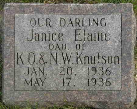 KNUTSON, JANICE ELAINE - Black Hawk County, Iowa | JANICE ELAINE KNUTSON