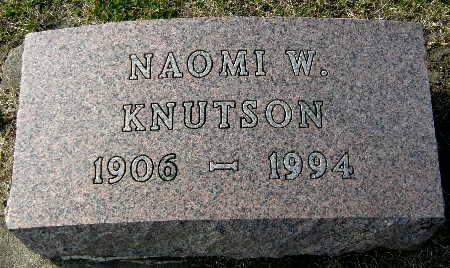 KNUTSON, NAOMI W. - Black Hawk County, Iowa   NAOMI W. KNUTSON