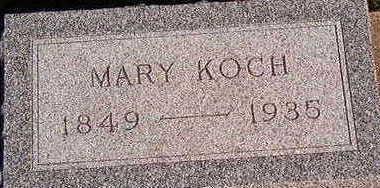 KOCH, MARY - Black Hawk County, Iowa | MARY KOCH