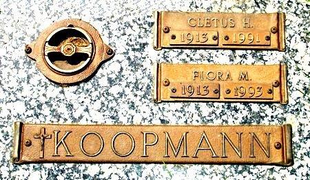 SUDMEIER KOOPMANN, FLORA M. - Black Hawk County, Iowa | FLORA M. SUDMEIER KOOPMANN