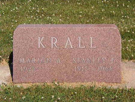 KRALL, MARION A. - Black Hawk County, Iowa | MARION A. KRALL