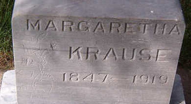 KRAUSE, MARGARETHA - Black Hawk County, Iowa | MARGARETHA KRAUSE