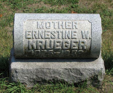 KRUEGER, ERNESTINE W. - Black Hawk County, Iowa | ERNESTINE W. KRUEGER