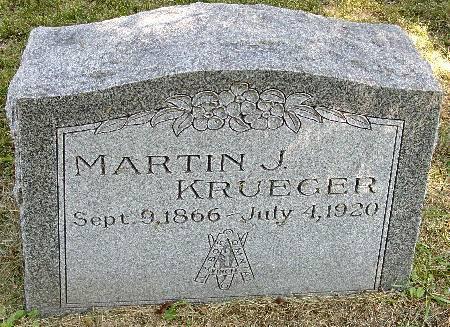 KRUEGER, MARTIN J. - Black Hawk County, Iowa | MARTIN J. KRUEGER