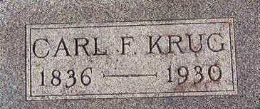 KRUG, CARL F. - Black Hawk County, Iowa | CARL F. KRUG