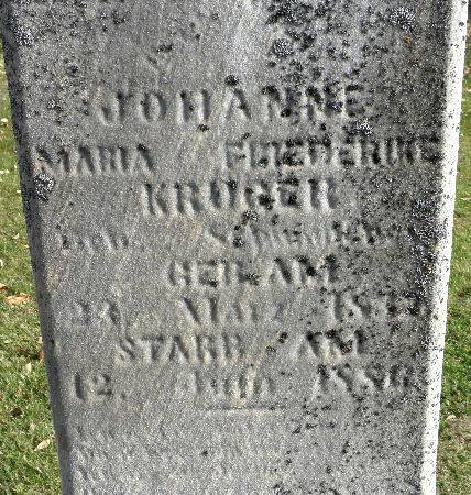KRUGER, JOHANNE MARIA - Black Hawk County, Iowa | JOHANNE MARIA KRUGER