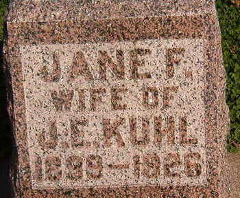 KUHL, JANE F. - Black Hawk County, Iowa | JANE F. KUHL