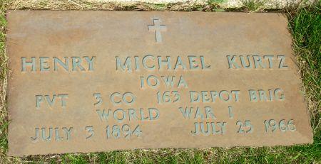 KURTZ, HENRY MICHAEL - Black Hawk County, Iowa | HENRY MICHAEL KURTZ